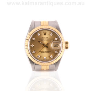 Ladies diamond dial Rolex watch reference 69173