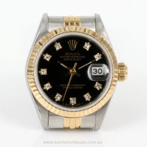 Lady's diamond dial Rolex model 69173