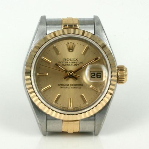 2-tone ladies Rolex watch.