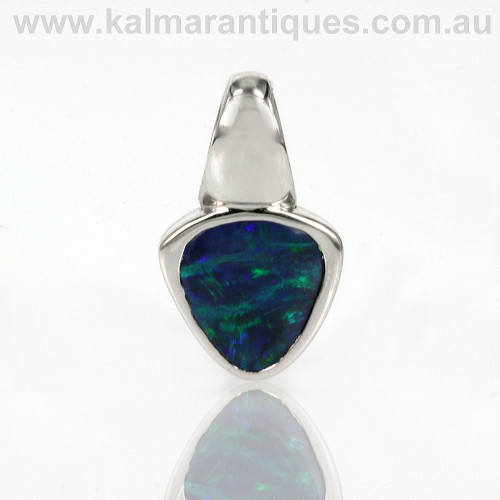 Lightning Ridge black opal pendant
