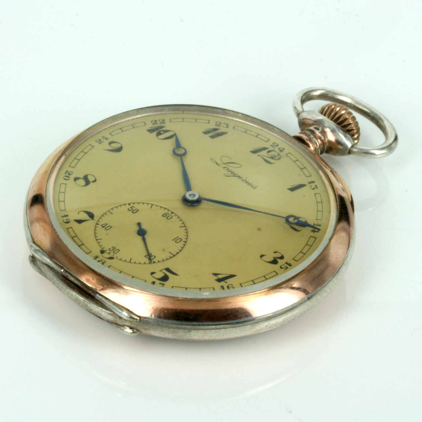 Buy Antique Longines pocket watch in gold & silver. Sold ... | 1400 x 1400 jpeg 169kB