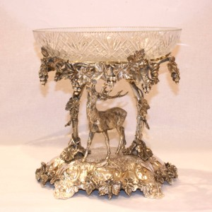 Mappin & Webb silver plate centrepiece.