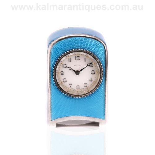 Miniature Art Deco carriage clock