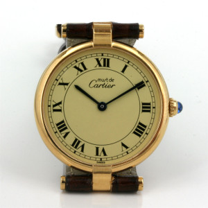 Lady's Must de Cartier Vermeil watch.