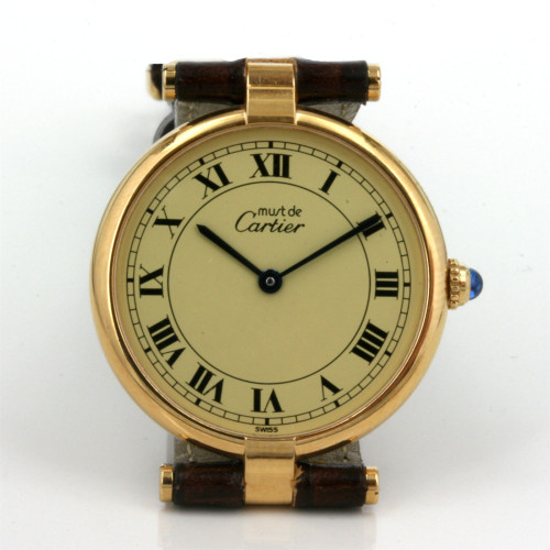 Lady's Must de Cartier Vermeil watch.