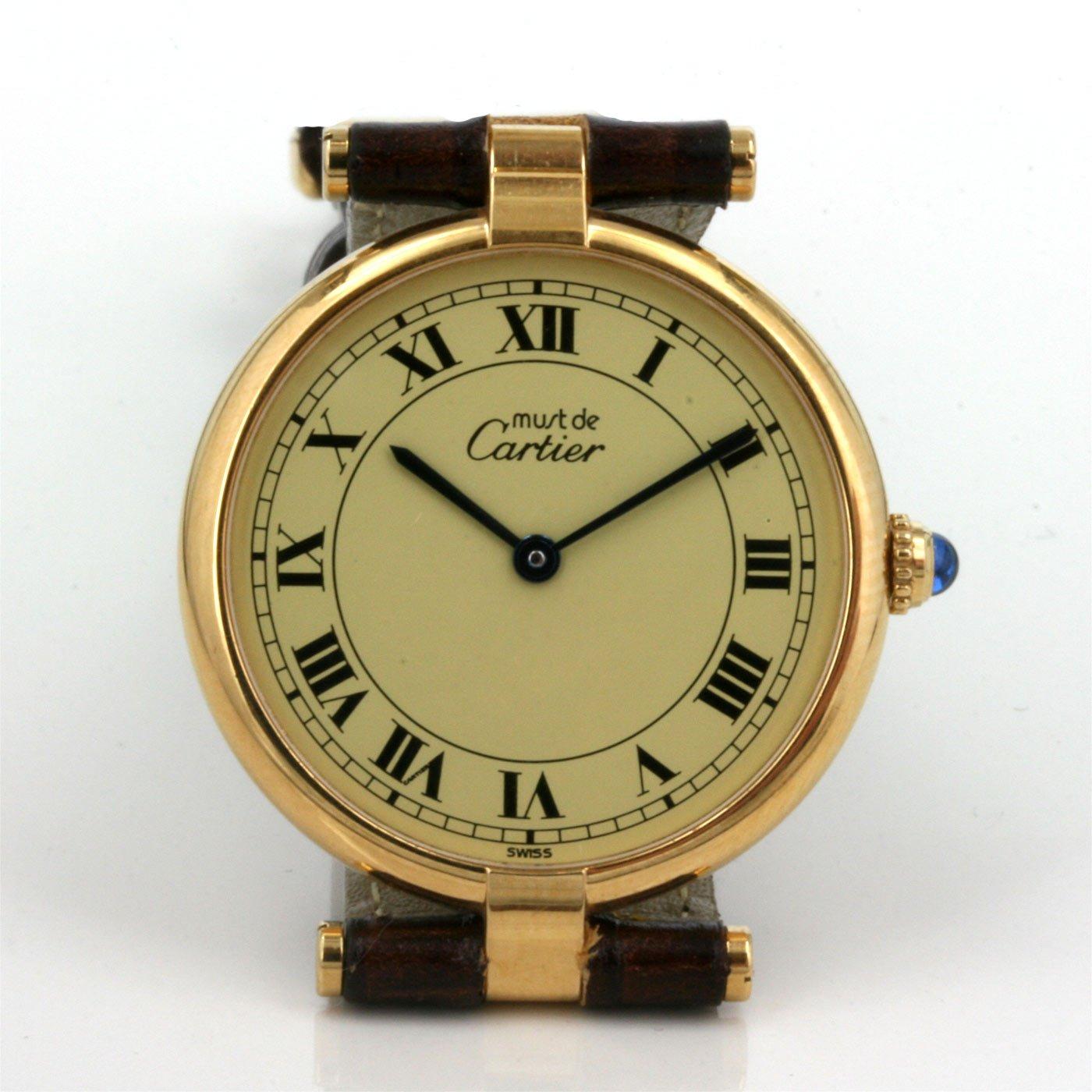 buy ladys must de cartier vermeil watch sold items sold