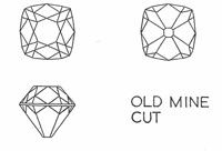 Mine cut diamonds
