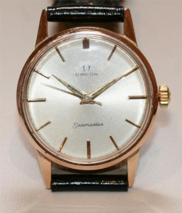 Omega Seamaster in solid gold case