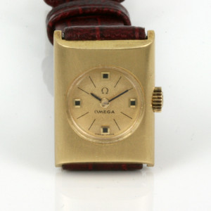 18ct gold ladies Omega
