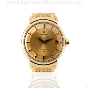 18ct Omega constellation Grand Luxe reference 168.002