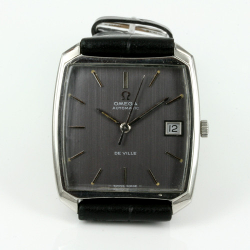 Grey dial vintage Omega De Ville watch from 1969