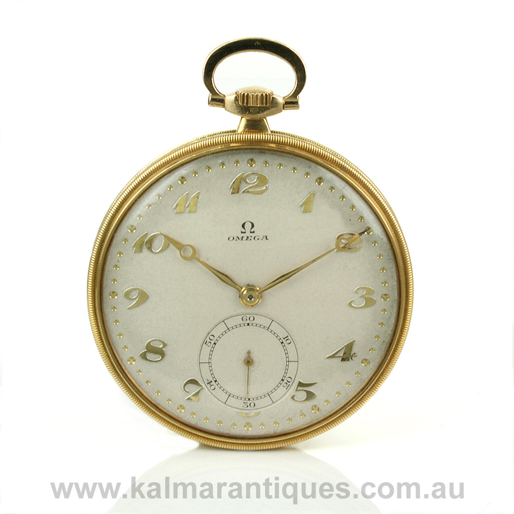 Buy 18ct Omega pocket watch made in 1915 Sold Items a418498373