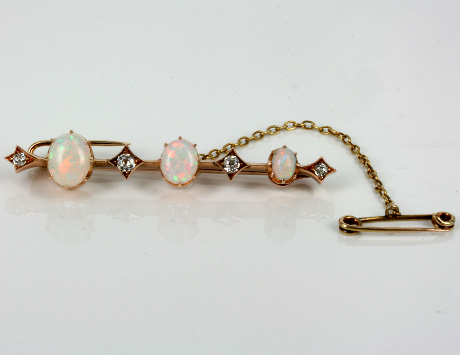pendant crystal opal vintage brooch diamond gold