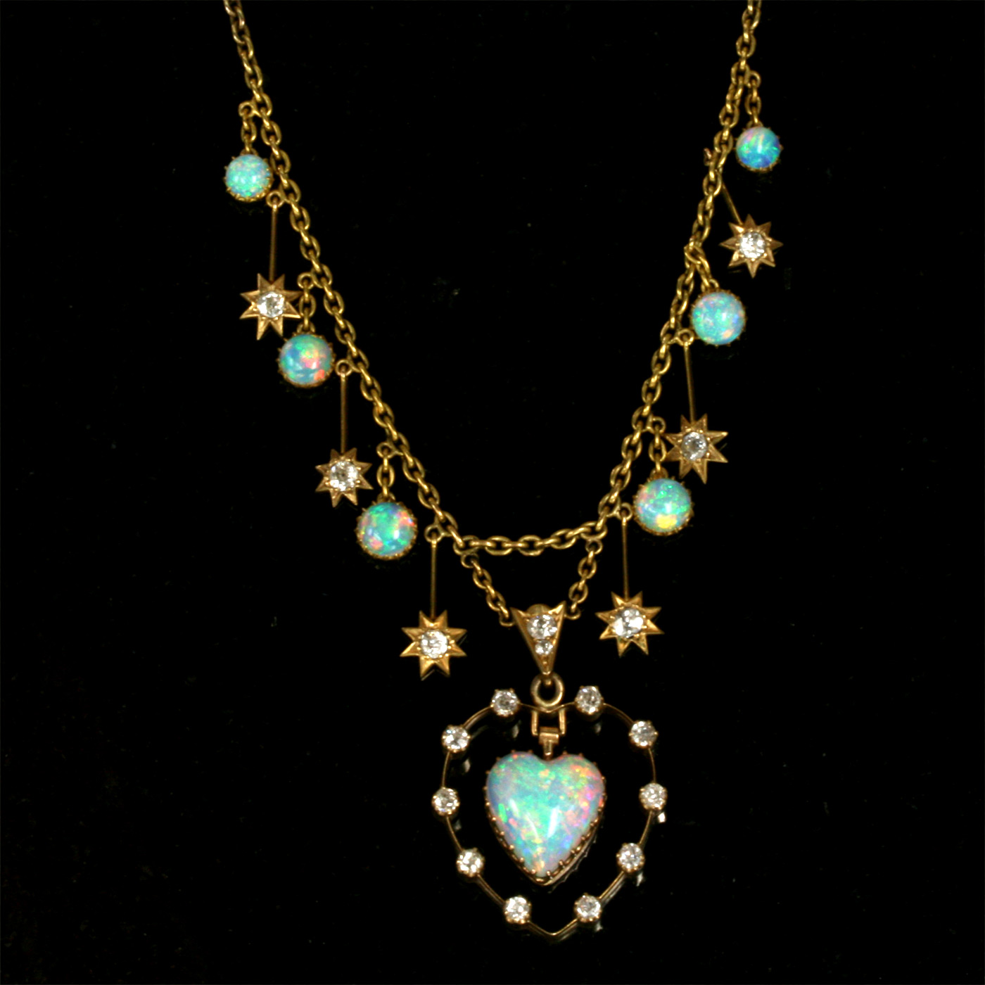 buy antique opal and necklace sold items sold