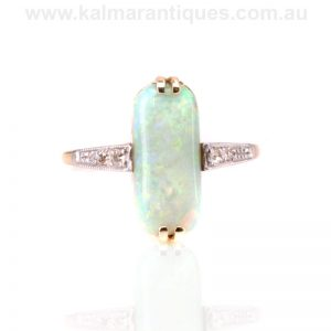 Art Deco opal and diamond ring dating from the 1920's