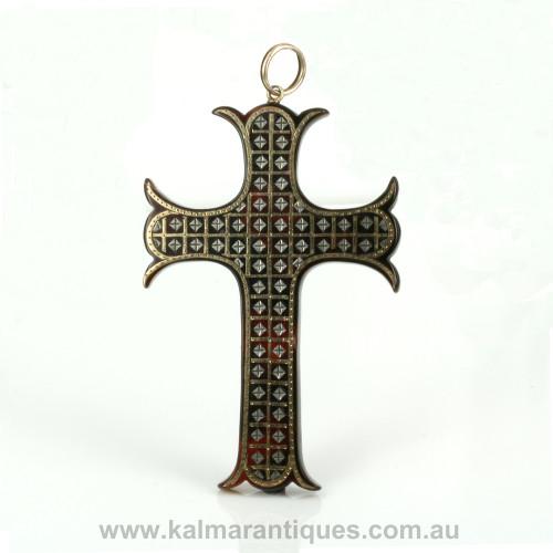 Antique pique cross from the Victorian era