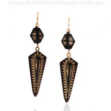 Antique pique drop earrings dating from the 1880's