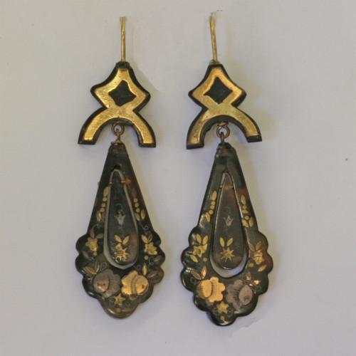 Victorian pique drop earrings