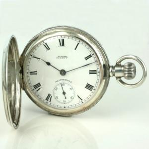 Waltham sterling silver pocket watch 1908