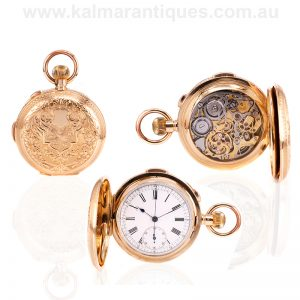 Antique 18ct gold quarter repeater pocket watch in spectacular condition by Le Phare