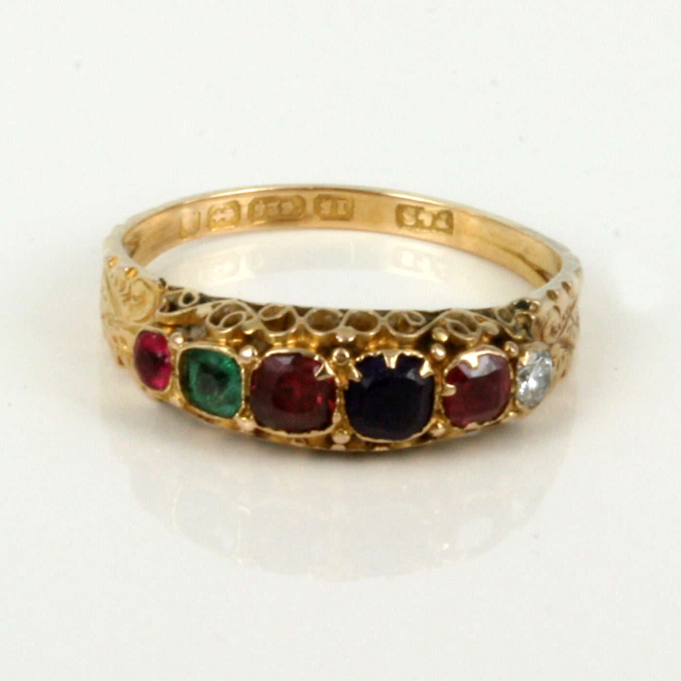 Buy 15ct Antique Regard Ring From The 1890 S Sold Items