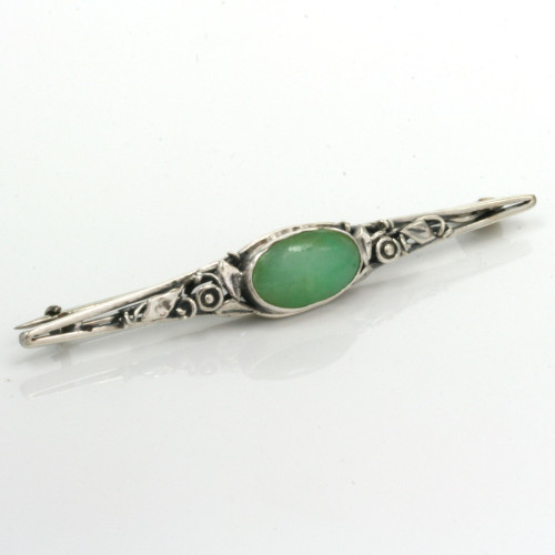 Silver brooch by Rhoda Wager
