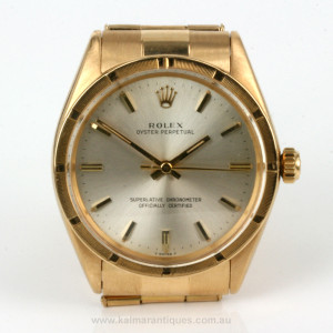 Vintage 18ct Rolex model 1007 from 1963