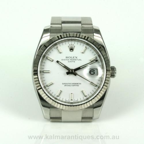 2012 Rolex Date model 115234