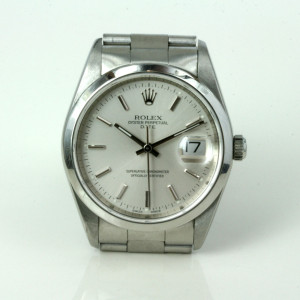 Steel Rolex Date watch from 2000 model 15200