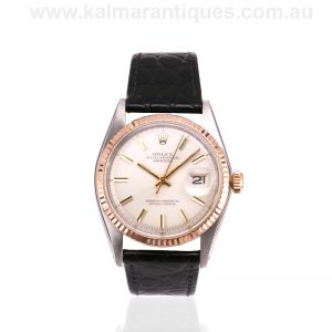 Vintage Rolex 1601 with the rose gold bezel