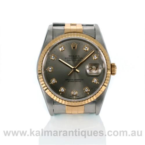 Rolex Datejust diamond dial 16233