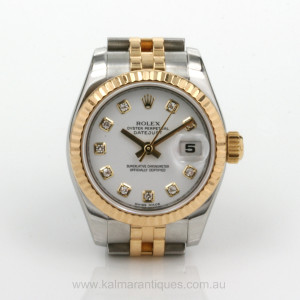Rolex Datejust diamond dial model 179173
