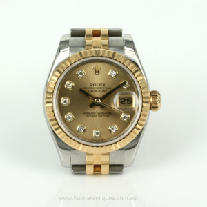 Ladies diamond dial Rolex Datejust model 179173