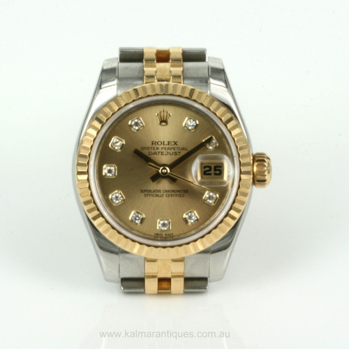 Ladies diamond dial Rolex Datejust model 179173