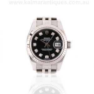 Ladies 2016 Rolex diamond dial reference 179174 with box and papers. Rolex Sydney