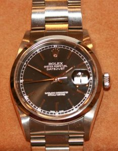 Black dial Rolex Oyster