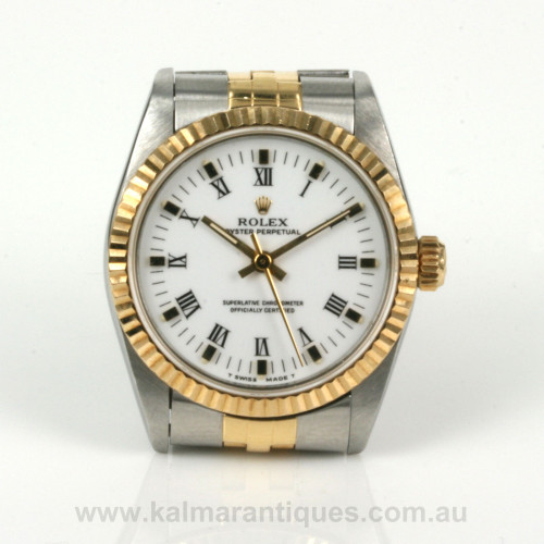 Midsize gold and steel Rolex model 67513