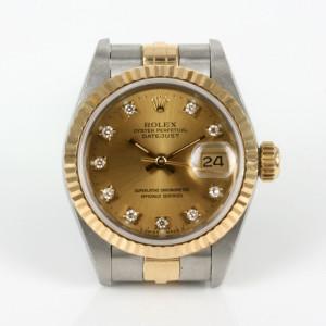 Diamond set ladies Rolex Datejust watch