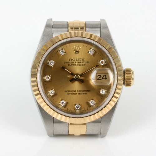 Diamond set ladies Rolex Datejust watch