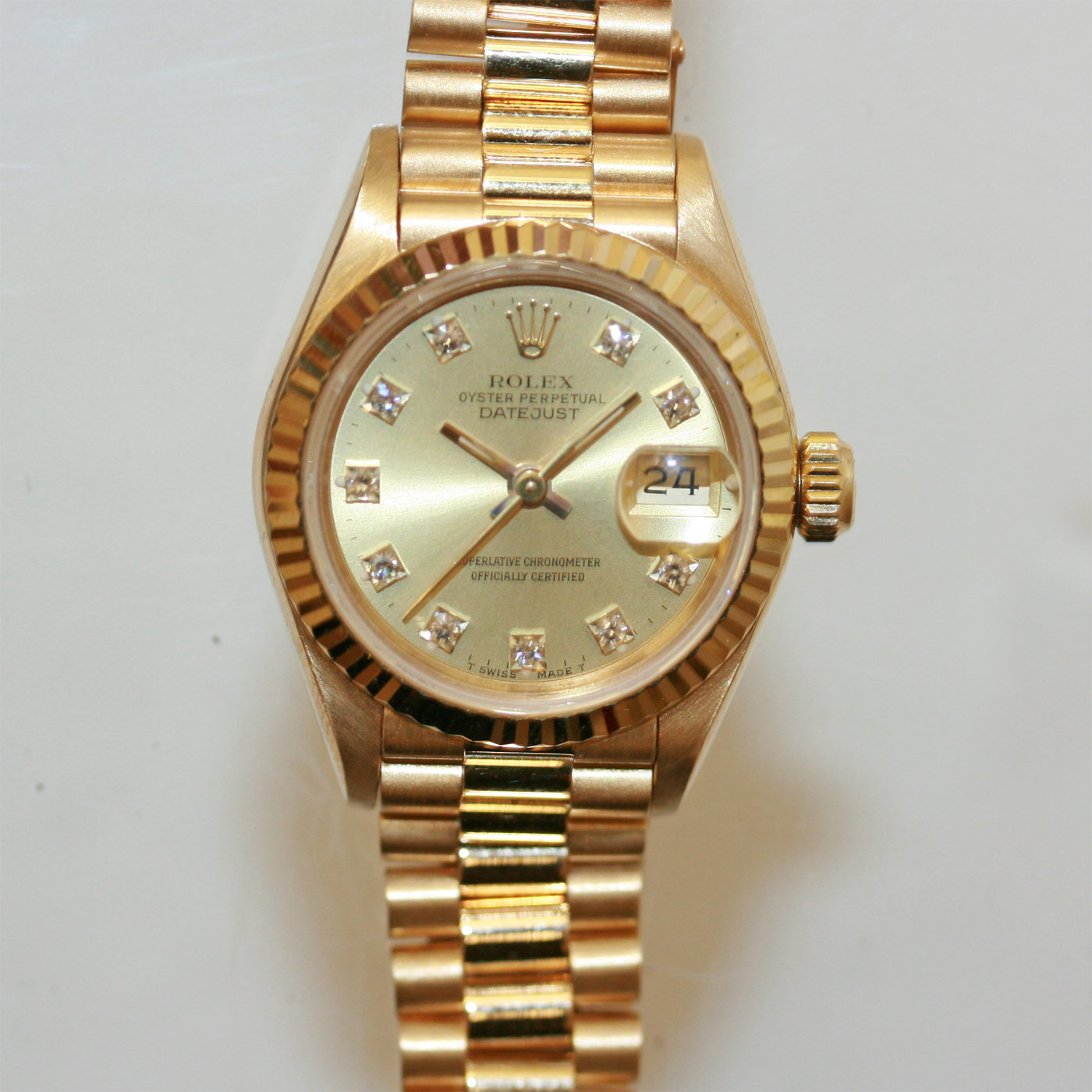 champagne product presidential date pre owned sale for sku mens genuine rolex watches day yellow gold dial