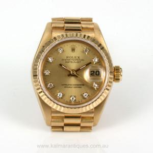 1987 Ladies Rolex diamond dial President