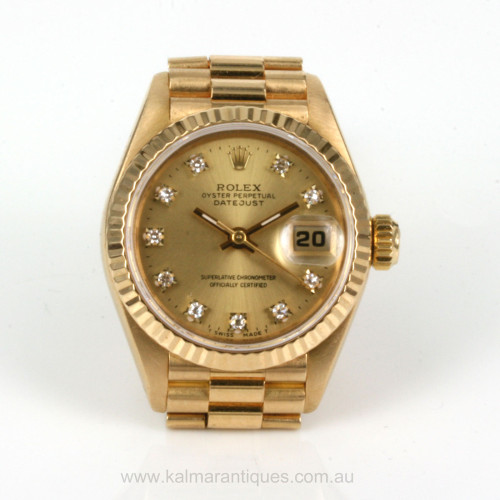 1987 Ladies Rolex diamond dial President