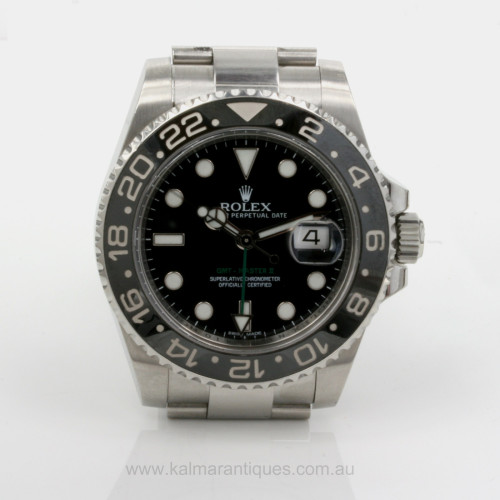 Ceramic bezel 2013 Rolex GMT Master II model 116710LN