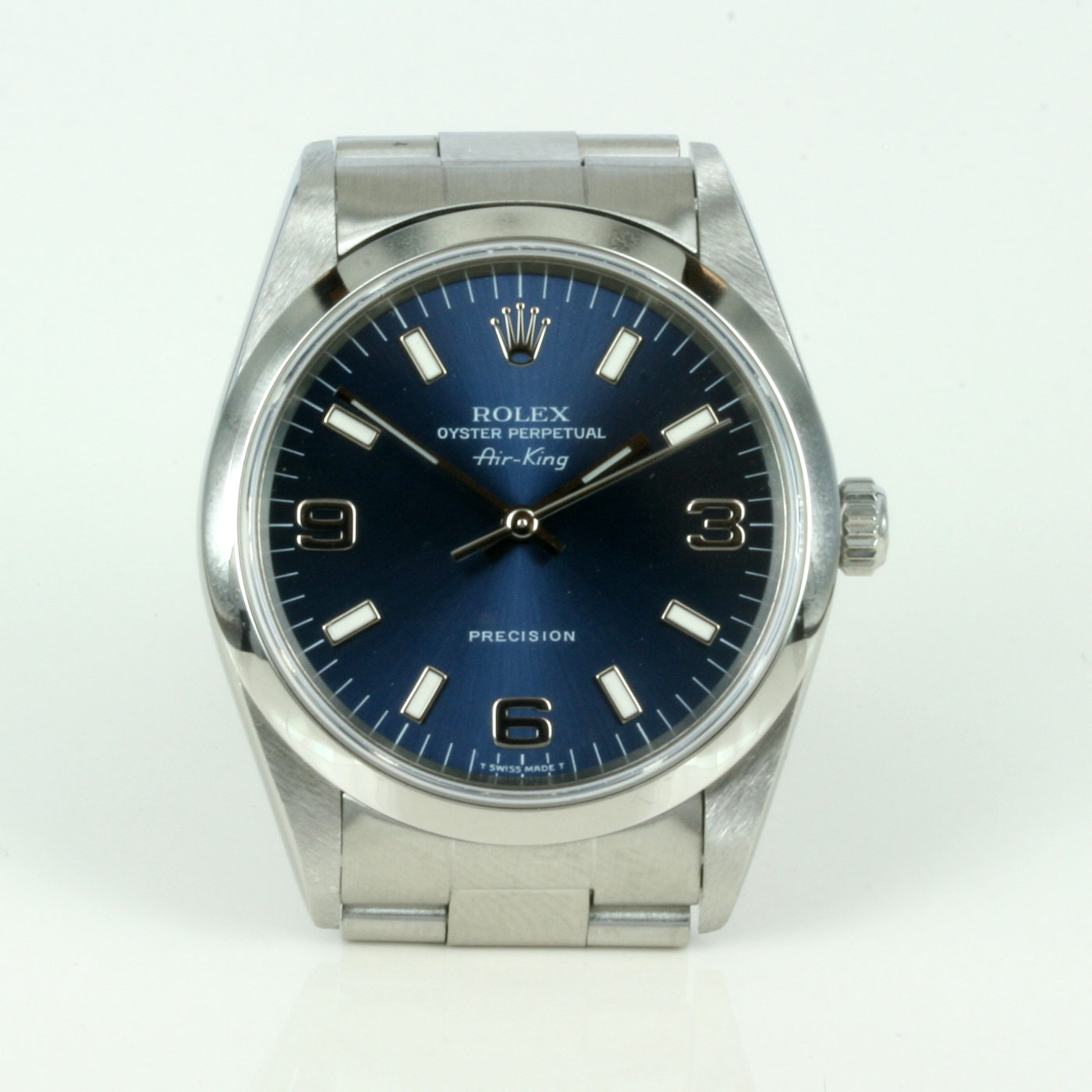 Buy rolex air king blue dial with 3 6 9 dial sold items sold rolex watches sydney kalmarantiques for Rolex air king