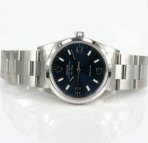 Blue dial Rolex Air King model 14000
