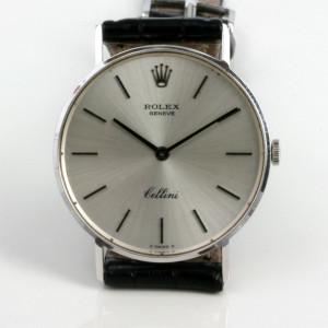 White gold Rolex Cellini watch.