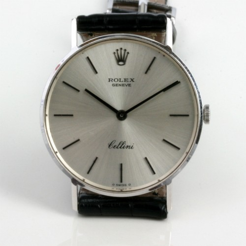 White gold Rolex Cellini watch.