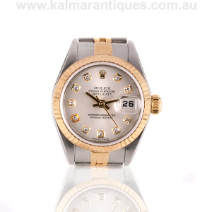 Rolex Oyster Perpetual Datejust Diamond Dial 79173