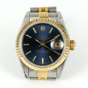 Blue dial 2 tone Rolex Datejust model 69173