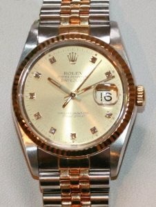 18ct and stainless steel Rolex